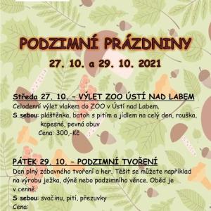 Podzimní prázdniny - výlet do ZOO v Ústí